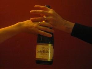 Alliances et bouteille